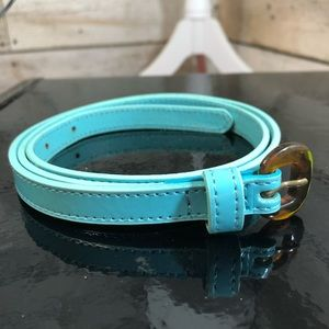 Anthropologie Lucky Penny Aqua Blue Belt